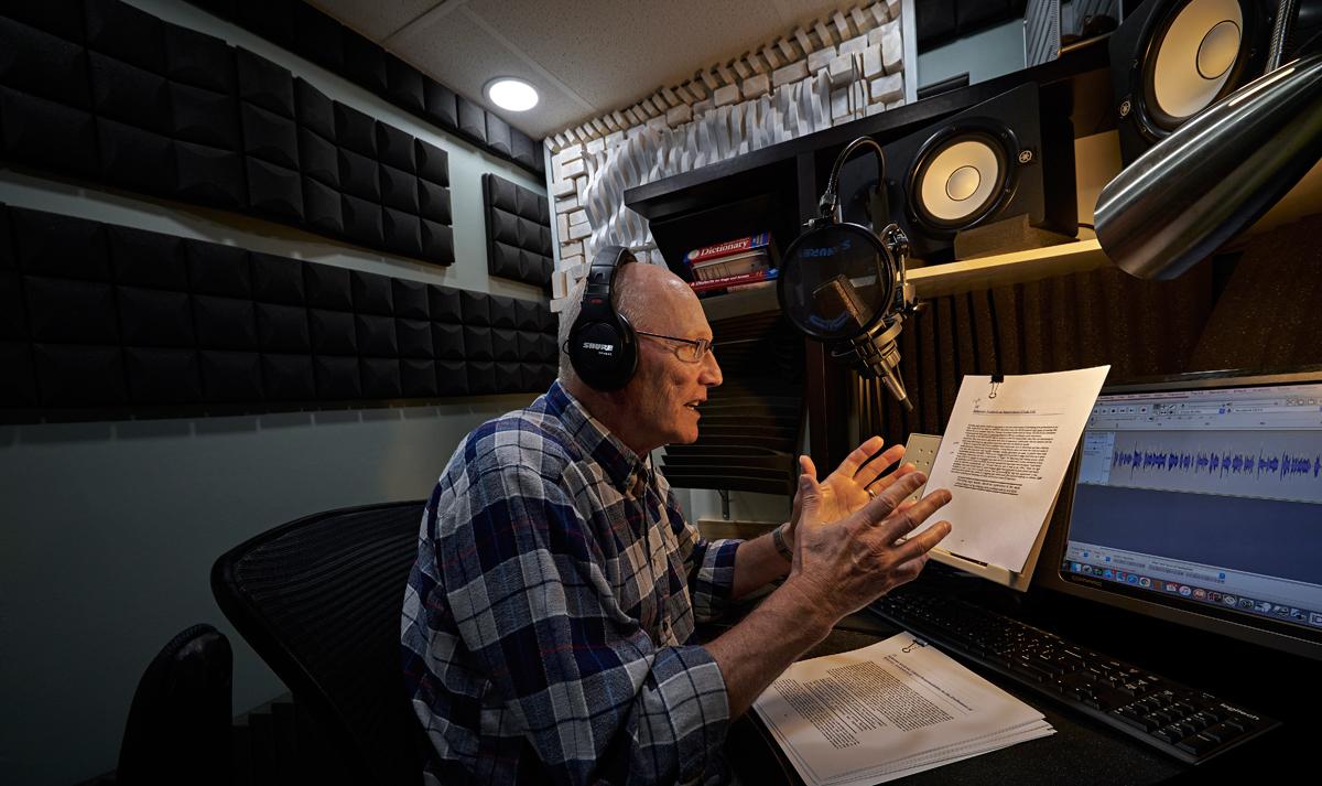 Ward Paxton in his recording studio